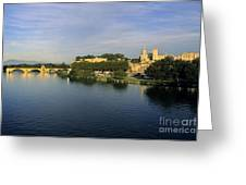 Pont D'avignon Et Palais Des Papes. Greeting Card
