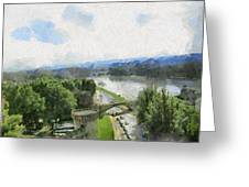 Pont De St Benezet - Avignon Greeting Card