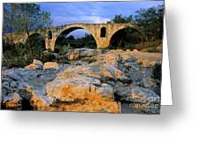 Pont Julien. Luberon. Provence. France. Europe Greeting Card