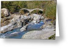 Ponte Dei Salti - Lavertezzo Greeting Card