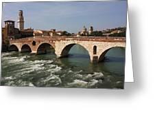 Ponte Pietra Greeting Card