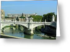 Ponte Sant'angelo In Rome Greeting Card