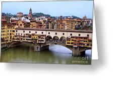 Ponte Vecchio From Uffizi Greeting Card