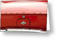 Pontiac Firebird Emblem Greeting Card