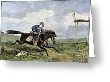 Pony Express Greeting Card