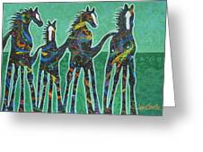 Pony Pastures Greeting Card