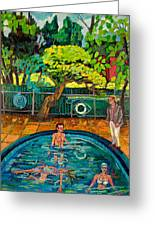 Pool At Upsal Gardens Greeting Card
