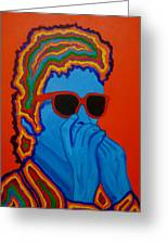 Pop Dylan Greeting Card by Pete Maier