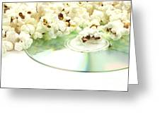 Popcorn And Movie  Greeting Card