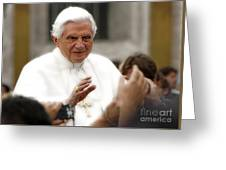 Pope Benedict Xvi Greeting Card