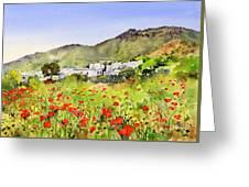 Poppies At Las Hortichuelas Greeting Card