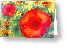 Poppies Face To The Sun Greeting Card