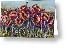 Poppies In My Field Greeting Card
