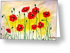 Poppies Greeting Card by Sonya Ragyovska