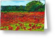 Poppy Fields Tuscany Greeting Card