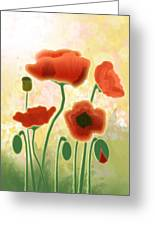 Poppy Mountain Meadow Greeting Card by Melisa Meyers