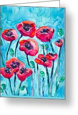 Poppy Sky Greeting Card