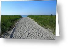 Popular Beach Path Greeting Card