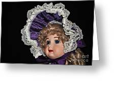 Porcelain Doll - Head And Bonnet Greeting Card