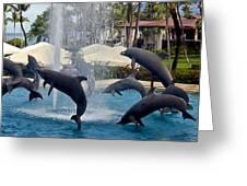 Porpoise Statues   Maui Hawaii Greeting Card
