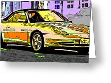 Porsche Carrera Study 4 Greeting Card by Samuel Sheats