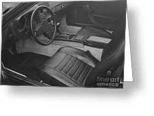 Porsche Interior Greeting Card