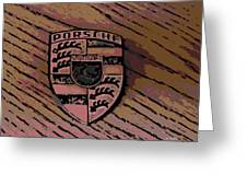 Porsche On Wood Greeting Card