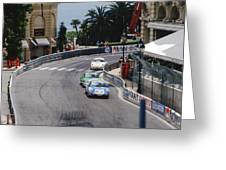 Porsches At Monte Carlo Casino Square Greeting Card