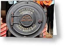 Port Huron Engine And Thresher Company . Steam Train Locomotive Engine 8613 . 7d12906 Greeting Card