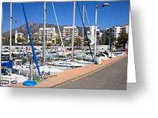 Port In Marbella Greeting Card