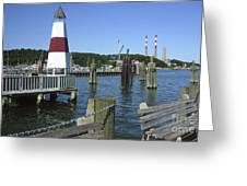 Port Jefferson Harbor Greeting Card