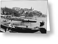 Port Of Salacak Uskudar - Turkey Greeting Card
