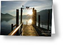 Port On In Sunset Greeting Card