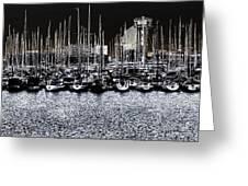 Port Vell Barcelona Greeting Card