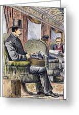 Portable Typewriter, 1889 Greeting Card