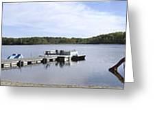 Portage Lake Panorama Greeting Card