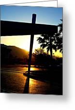 Porte Cochere Sunset Greeting Card