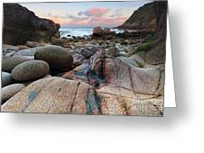 Porth Nanven Sunrise Greeting Card