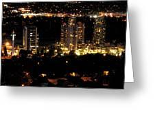 Portland At Night Greeting Card