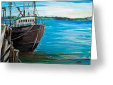 Portland Harbor - Home Again Greeting Card