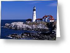 Portland Head Inshore Greeting Card