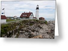 Portland Head Light Cape Elizabeth Fort Williams Maine Greeting Card