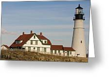 Portland Head Light Profile Greeting Card