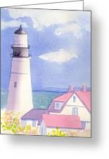 Portland Light 2 Greeting Card