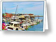 Portland Maine Harbor Greeting Card
