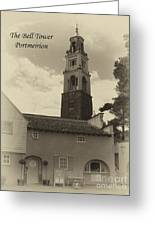 Portmeirion Bell Tower Greeting Card