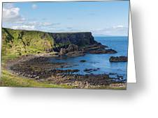 Portnaboe Bay At Giants Causeway Greeting Card
