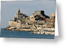 Portovenere's Church And Fortress Greeting Card