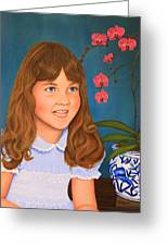Portrail Of A Young Girl Greeting Card