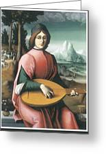 Portrait Of A Young Man With A Lute Greeting Card